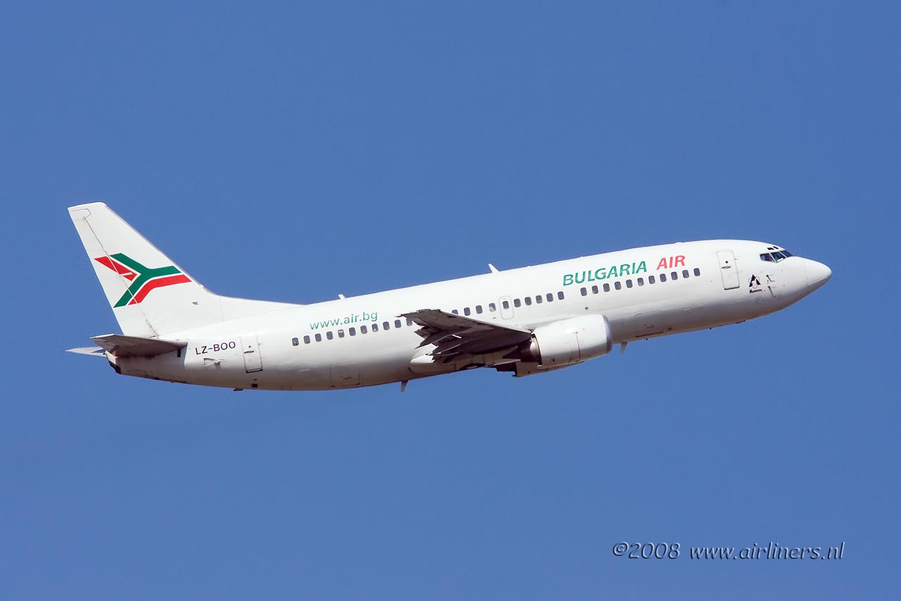 Bulgaria air boeing 737 registration lz boo