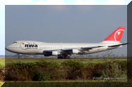 Northwest Airlines Boeing 747 aircraft