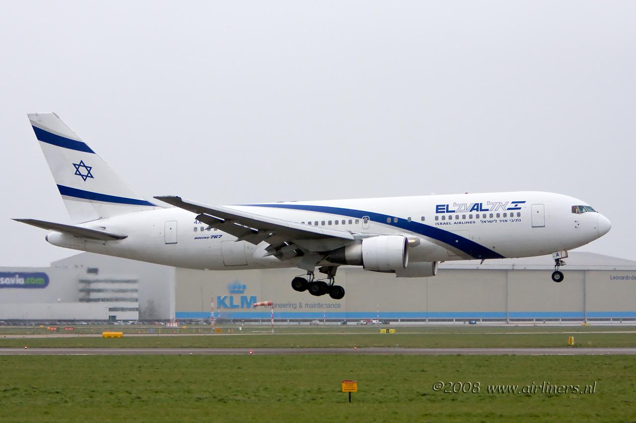 4X EAA Elal Boeing 767
